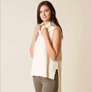 Free People Sky Scraper Ivory Sweater Medium